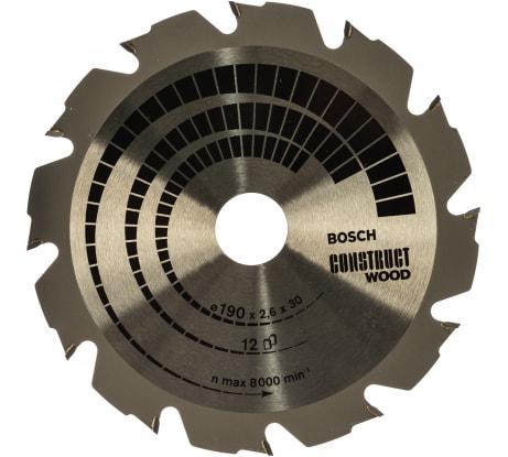 Фото пильного диска по строительной древесине Bosch 190x30 мм 2.608.640.633