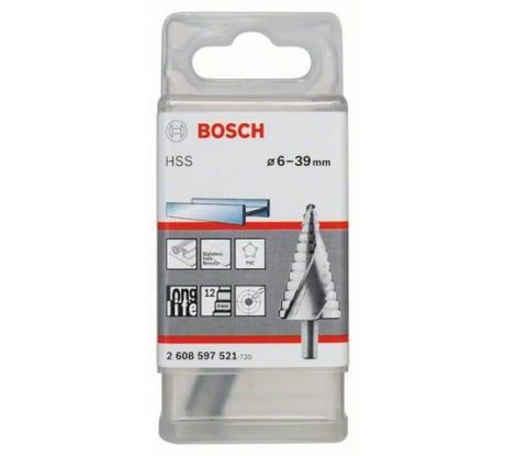 Фото ступенчатого сверла Bosch HSS, 4-39 мм, хвостовик 10 мм 2.608.597.521