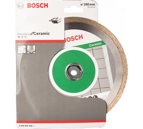 Фото алмазного диска для плиткореза Bosch Professional for Ceramic 2608602536 180-25,4