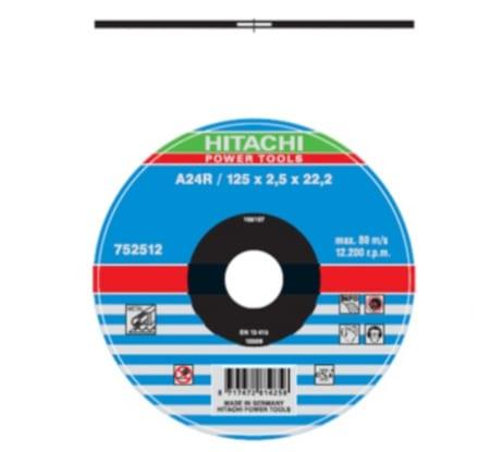 Фото отрезного диска Hitachi 752512 125х22,2 мм