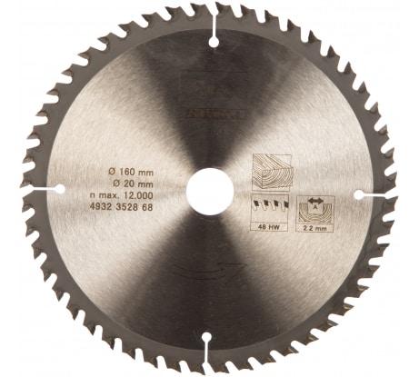 Фото пильного диска AEG 160х20х2,2 мм; Z48 4932352868