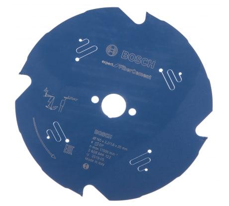 Фото диска пильного по фиброцементу Bosch Expert for FiberCement 2608644122 165x20x2.2/1.6x4T