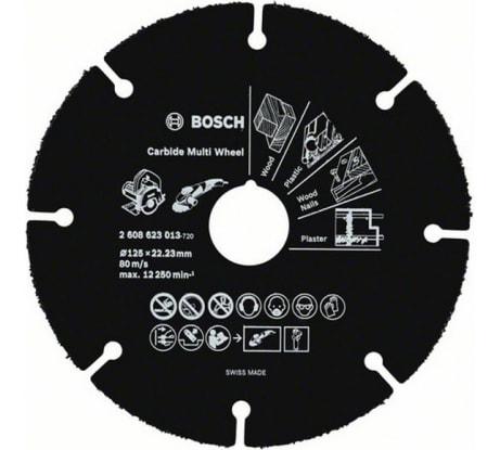 Фото твердосплавного отрезного круга по дереву Bosch Multi Wheel 2608623013 125 мм