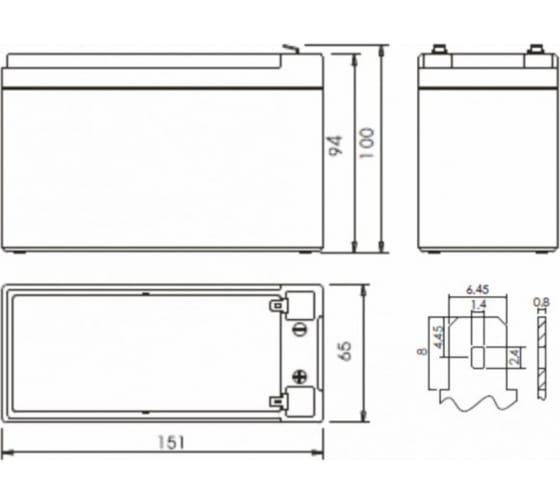 Батарея аккумуляторная CA1270/UPS для ИБП POWERMAN 6078965 3