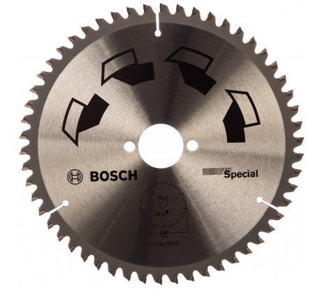 Фото циркулярного диска Bosch SPECIAL 2609256892 190x30 54