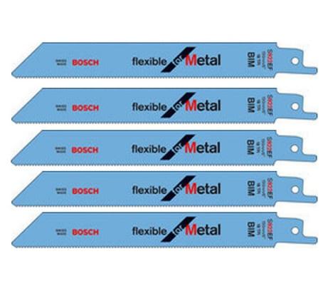 Фото пильных полотен по металлу Bosch 150х19х0, 9 мм 5 шт 2.608.656.015