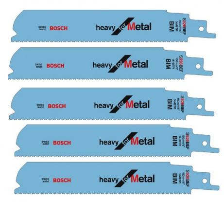 Фото пильного полотна по металлу Bosch 150х25х1, 1 мм 5 шт 2.608.657.394