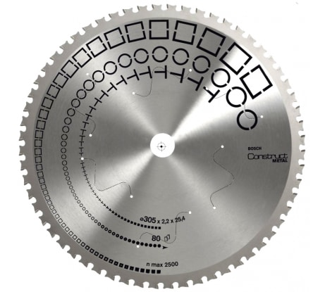 Фото пильного диска по металлу Bosch (28) 305x25, 4 мм 2.608.641.727