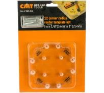 Шаблон радиусный пластиковый 12 углов для скругления углов от 3.2 до 25.4 мм CMT TMP-R12
