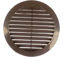Решетка наружная вентиляционная с фланцем (150 мм, коричневый) ERA 12РКН 88-056
