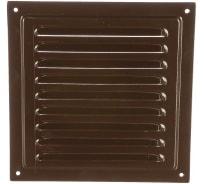 Решетка вентиляционная стальная с сеткой (150x150 мм; коричневая) ERA 1515МЭ кор 87-915