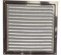 Решетка вентиляционная стальная с сеткой (300x300 мм; коричневая) ERA 3030МЭ кор 87-918