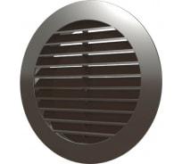 Решетка наружная вентиляционная с фланцем (130 мм, коричневый) ERA 10РКН 88-053