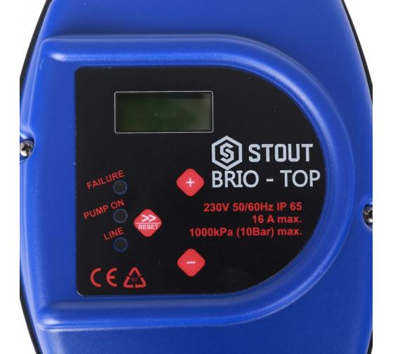 Устройство управления насосом BRIO-TOP STOUT SCS-0001-000062 8