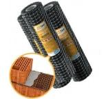 Сетка базальтовая кладочная НЕОГРИД Стандарт (ячейка 25х25 мм; рулон 1х50 м) НС 1-50