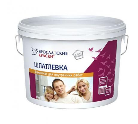 Шпатлевка финишная для внутренних работ 8 кг ЯРОСЛАВСКИЕ КРАСКИ Н505.4 - цена, отзывы, характеристики, фото - купить в Москве и РФ