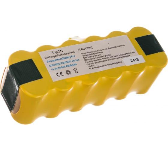 Аккумулятор для беспроводного робота-пылесоса iRobot Roomba (14.4В, 4Ач, Ni-MH) TopON PN: GD-ROOMBA-500 TOP-IRBT500-40 2