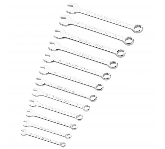 Набор комбинированных ключей Stanley 12 шт STMT82843-0 - цена, отзывы, характеристики, фото - купить в Москве и РФ