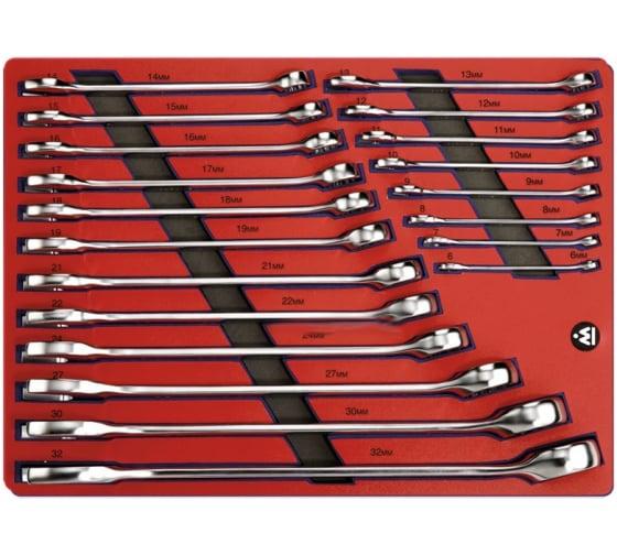 Набор комбинированных ключей 6-32мм, 20шт МАСТАК 5-21120 в Екатеринбурге - купить, цены, отзывы, характеристики, фото, инструкция