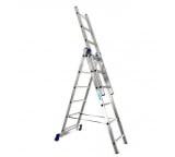 Трехсекционная универсальная алюминиевая лестница Алюмет Серия H3 5312