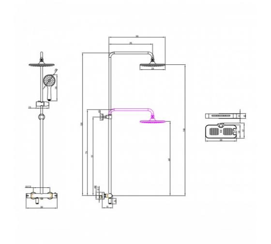 Смеситель для ванны и душа Lemark Tropic термостатический LM7010C 2