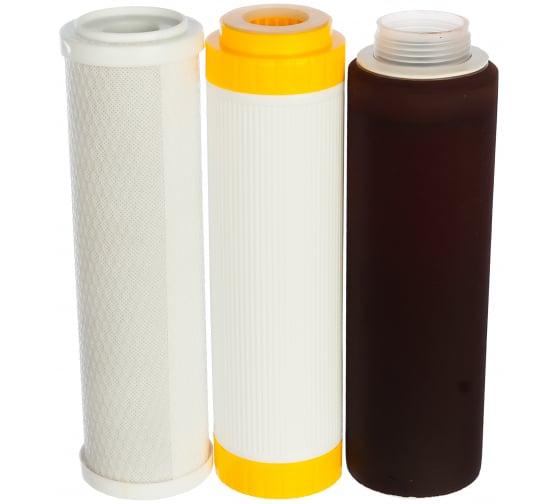 Комплект картриджей №5 к фильтрам для воды Гейзер 3 (для сверхжесткой воды) Гейзер 50009 - цена, отзывы, характеристики, фото - купить в Москве и РФ