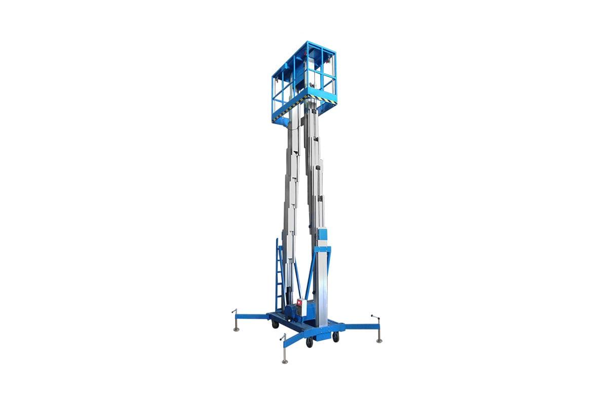 Фото двухместного телескопического подъемника Pro Lift высота подъема 8м, 220 В GTWY8-200 AC