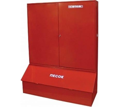 Закрытый пожарный щит (с ящиком для песка) МИГ ЩП-В 618-06 - цена, отзывы, характеристики, фото - купить в Москве и РФ