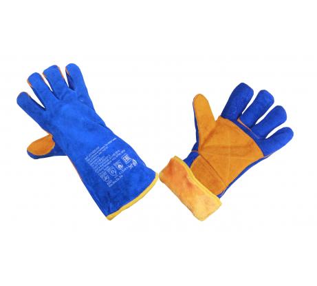 Спилковые утепленные перчатки-краги Элит-Профи Сиберия, цвет синий, Кевлар, А0210W c в Нижнем Новгороде - купить, цены, отзывы, характеристики, фото, инструкция