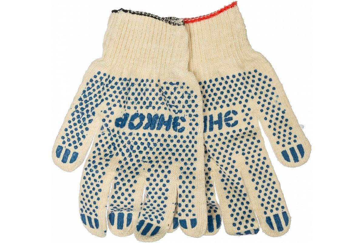 Фото хлопчатобумажных перчаток Энкор 56103