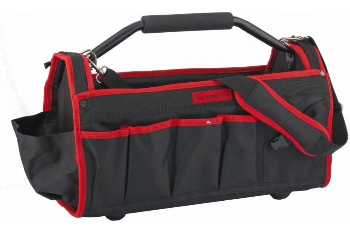 Фото каркасной сумки для инструмента MATRIX 490х230х280 мм 90258