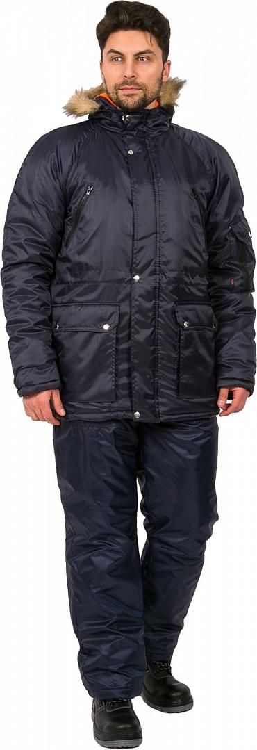 54e6e38d861 Мужская зимняя куртка Факел Аляска темно-синяя
