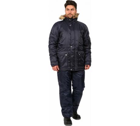 538cdc87245 Фото зимней мужской куртки Факел Аляска Т.синий  48-50  182-