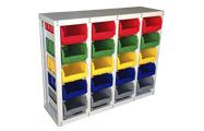 Шкафы, стойки и стеллажи со складскими ящиками